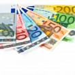 Close up of euro currency — Stock Photo