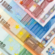 Stock Photo: Euro currency banknotes background