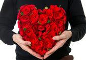 Bloemen boeket in hart vorm — Stockfoto