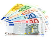 Euro currency banknotes. money background — Stock Photo