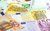 Close-up of Euro banknotes — Stock Photo