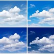 Sky background for Winter, Spring, Summer, Autumn — Stock Photo