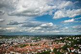 Vista de la ciudad de stuttgart, baden wurttemberg, alemania — Foto de Stock
