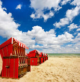 End of season. typical scene on the Baltic Sea. lanscape with cl — Stock Photo