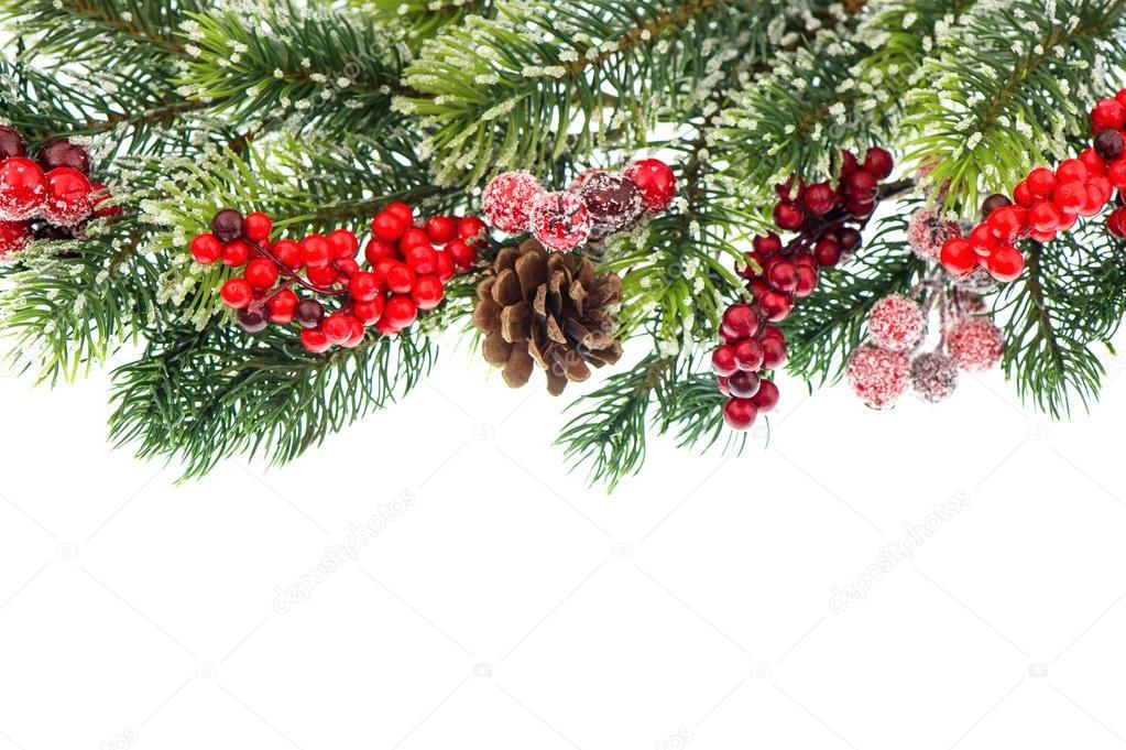 decoracao arvore de natal vermelha:Galho de árvore de Natal com decoração vermelha — Fotografias de