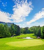 Golf field. european landscape — Stock Photo