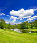 Golf field. european landscape — Foto Stock