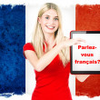 Stock Photo: Parlez-vous français? french learning concept
