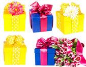 Colección de cajas de regalo — Foto de Stock