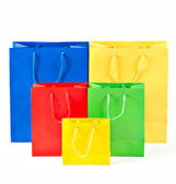 Colorful shopping bags. sale concept — Stock Photo
