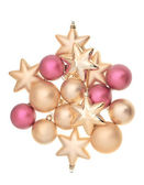 Red and golden christmas balls — Stock Photo