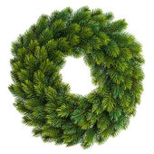 Christmas decoration evergreen wreath undecorated — Stock Photo