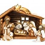 Christmas crib. nativity scene. holy family — Stock Photo #14867477