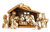 Christmas crib. nativity scene. holy family — Stock Photo