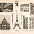Iron constructions. Vintage illustration from Meyers 1894 — Stock Photo #16244809