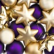Blue and golden christmas balls — Foto Stock