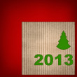 Christmas background from recycled cardboard — Stock Photo