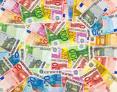 Euro currency banknotes money background — Stock Photo