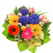 Beautiful easter bouquet of colorful spring flowers - Stock Photo