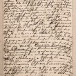 Old letter with handwritten italian text — Stock Photo