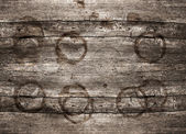 Rustic wooden background with stains — Stock Photo