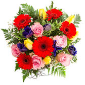 Fresh colorful spring flowers bouquet — Stock Photo