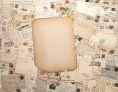 Cartes postales manuscrites anciennes et grungy papier — Photo