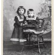 Vintage nostalgic portrait of two kids — Stock Photo #18304117