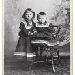 Royalty-Free Stock Photo: Vintage nostalgic portrait of two kids