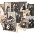 Stock Photo: Vintage family and wedding photos