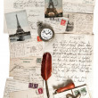 Stock Photo: Old letters, accessories and post cards