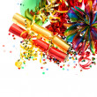 Colorful party garlands, streamer and confetti — Stock Photo #18476429