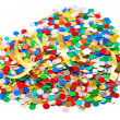 Colorful confetti background. carnival party decoration — Stock Photo