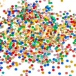 Colorful party decorationwith assorted confetti — Stock Photo