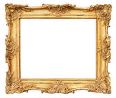 Old golden frame. vintage background — Photo