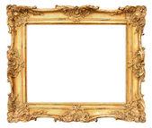 Starý zlatý rám. ročník pozadí — Stock fotografie