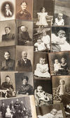 Old family photos. nostalgic vintage pictures — Stock Photo