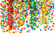 Stock Photo: Colorful party decoration with confetti and streamer