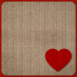 Colored cardboard paper texture with red heart — Foto de Stock