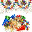 colorful birthday party decoration with cocktail glasses — Stock Photo