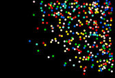 Konfety barevné pozadí na černou — Stock fotografie