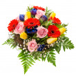 Stock Photo: Fresh colorful spring flowers bouquet