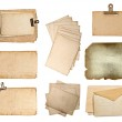 Set of various old paper sheets — Stock Photo #21903289
