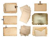Conjunto de várias folhas de papel velho — Foto Stock