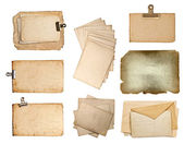 Set of various old paper sheets — ストック写真