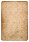 Old vintage grunge paper sheet with pattern — Stock fotografie