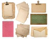 Sada různých starých listů papíru — Stock fotografie