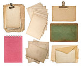 Set of various old paper sheets — Stock fotografie