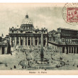 Stock Photo: Vintage post card with stamp from Vatican