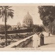 Vintage post card with garden from Vatican — Stock Photo #22516767